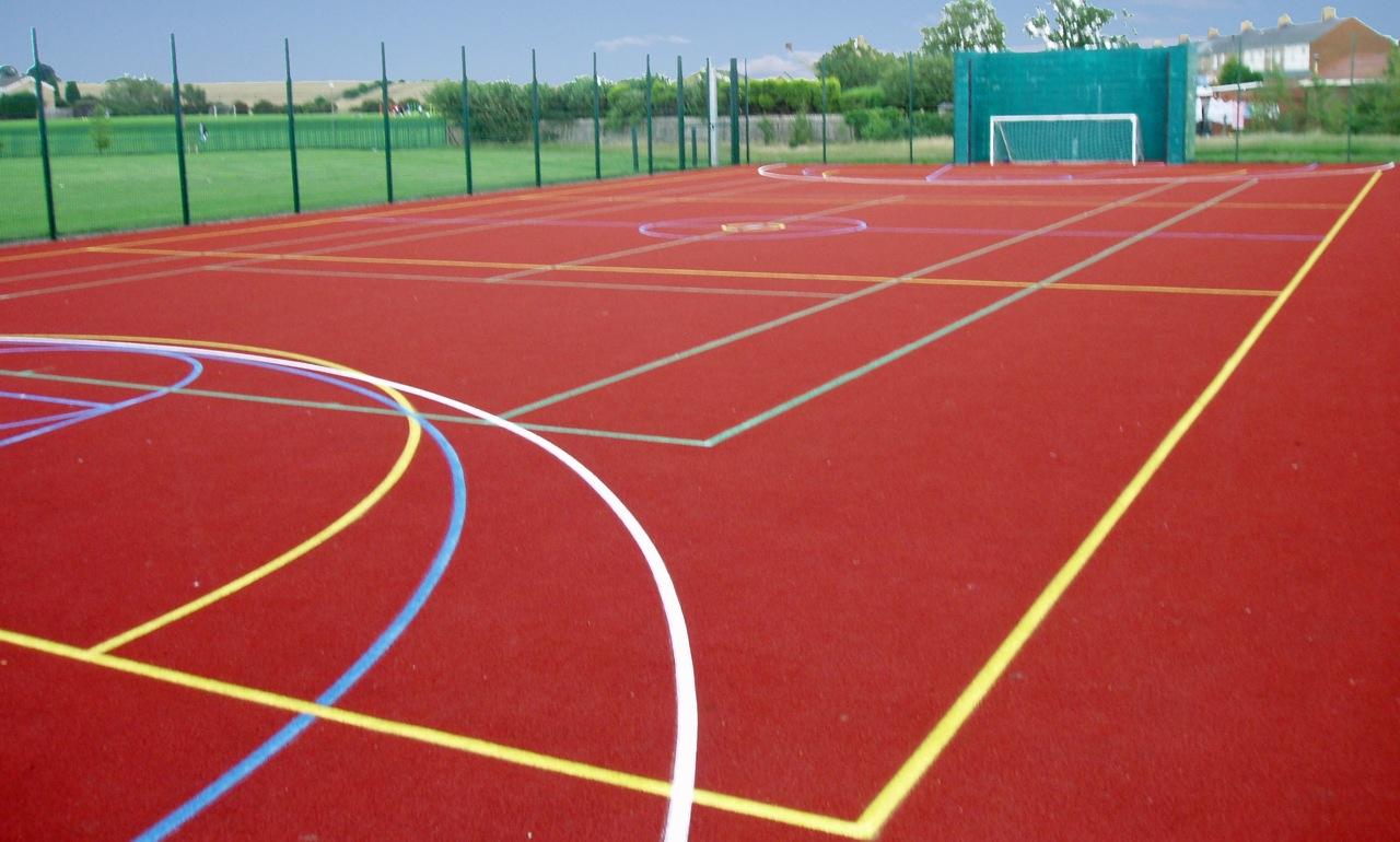 Donnstein sport court construction for Sport court